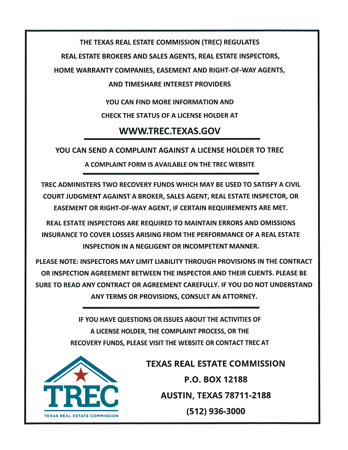 consumer protection notice