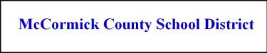 McCormick County Schools