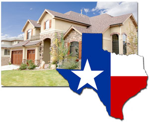 image of a house with the state of texas on it
