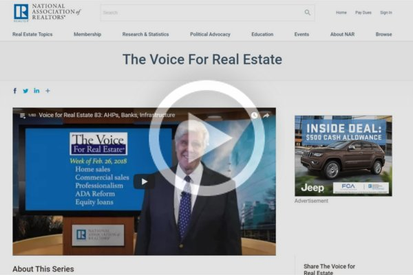 NAR The Voice for Real Estate