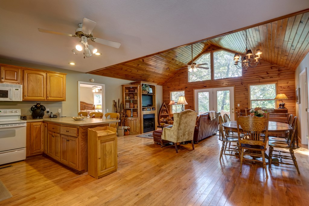 Great Room with Kitchen & Dining Area