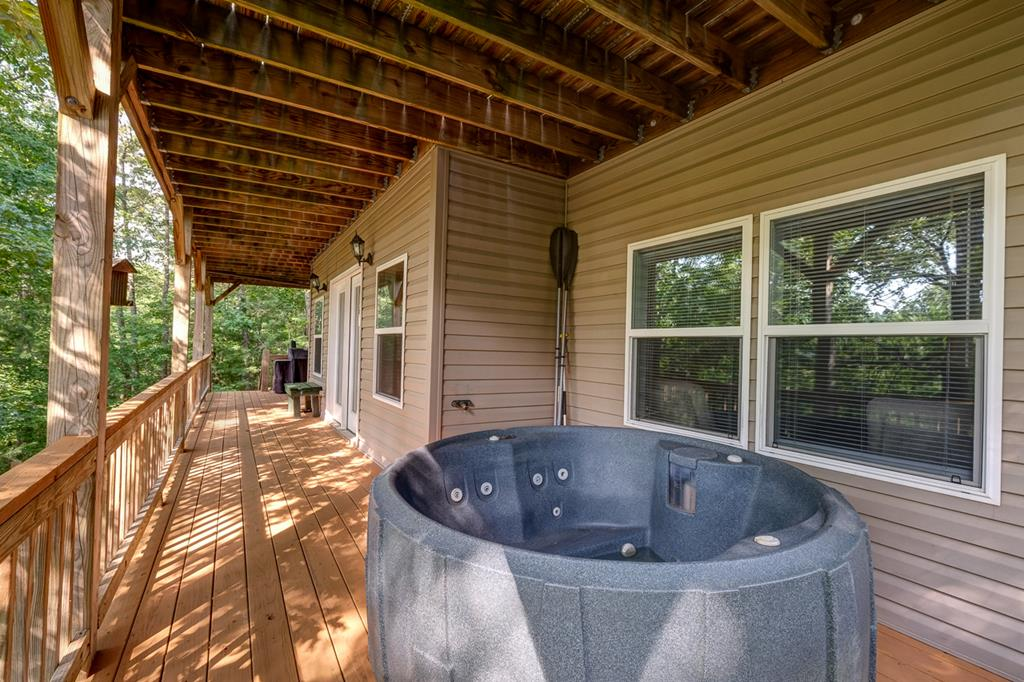 Lower Level Covered Deck & Hot Tub