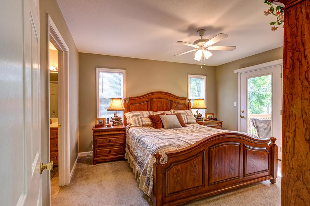 Master Bedroom with Access to Deck