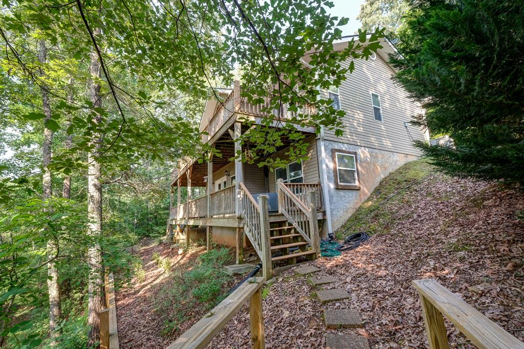 Back of Home & Steps to Lake