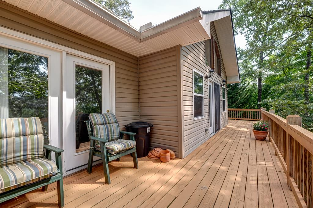 Back Deck with Access off of Bedroom