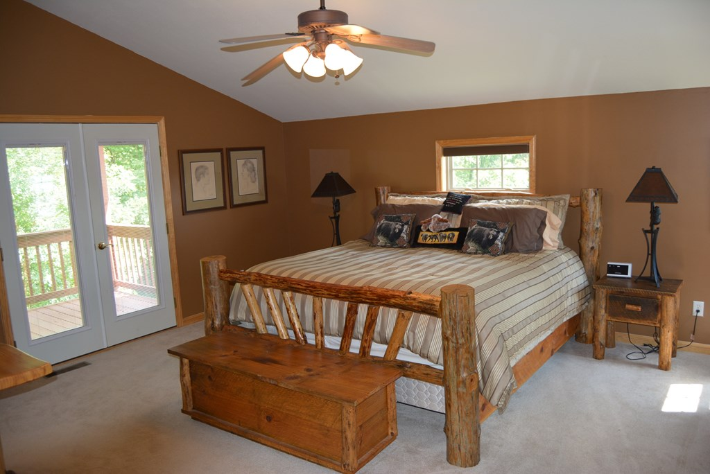 Master bedroom has private balcony