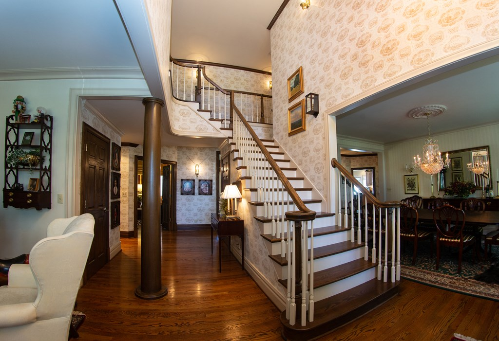 Entry Foyer with Open Staircase
