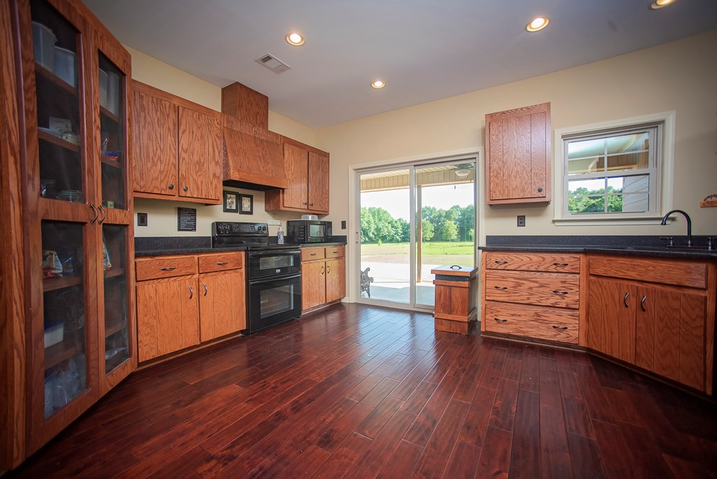 Spacious Kitchen with Solid Wood Cabinets.