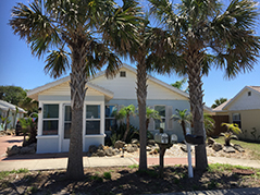 Vacation Rental House with Palm Trees